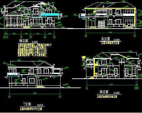 别墅建筑结构施工图纸免费下载 - 别墅图纸 - 土木