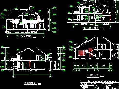 别墅施工图免费下载 - 别墅图纸 - 土木工程网