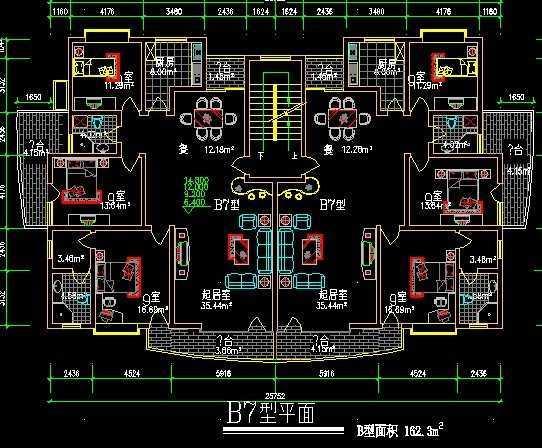 图纸平面图免费下载-别墅图纸-土木工程网意思上1sb1是户型什么图片