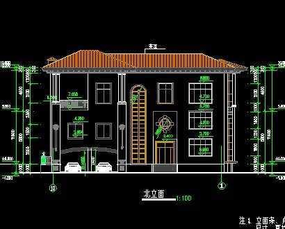 两层别墅施工图免费下载