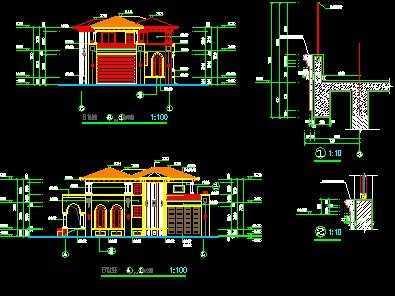 一套不错的欧式别墅建筑施工图包括平面图