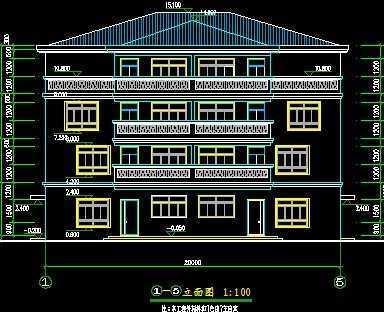 双拼四层别墅施工图