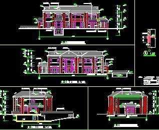 欧式豪宅建筑施工图