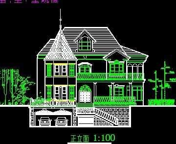 图纸、花园洋房CAD图纸大全免费下载南京宇天328d别墅图片