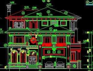 四层豪华别墅设计图免费下载 别墅图纸