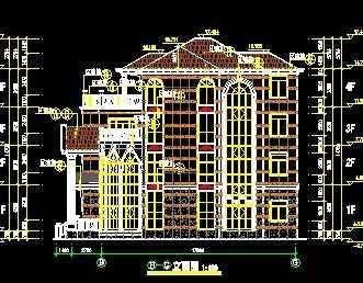 豪华欧式别墅楼设计图免费下载