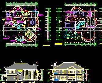 钢结构别墅建筑工程施工图纸