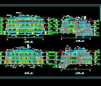 某小区别墅建筑工程施工图免费下载 别墅图纸 -某小区别墅建筑工程施