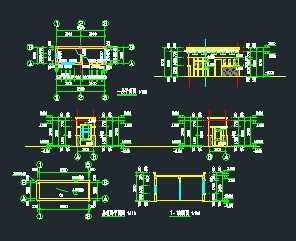 某欧式门卫室建筑施工图免费下载图纸工程格式图图片