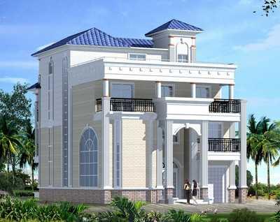 某四层欧式别墅建筑施工图(带效果图)图片