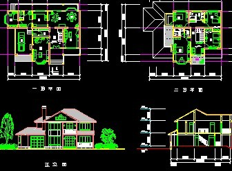 欧式别墅施工图纸免费下载 别墅图纸 土木工程网 -欧式别墅施工图纸