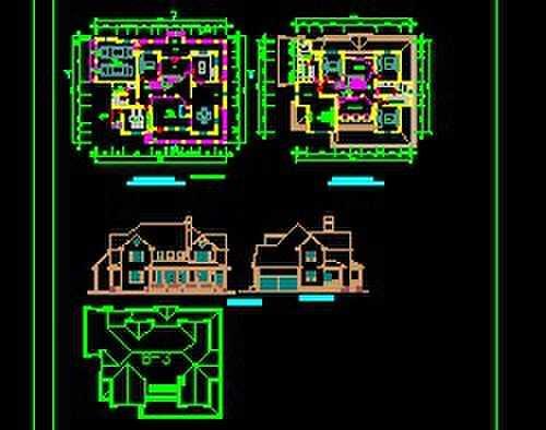某别墅v别墅方案图免费下载-土木大门-图纸工别墅图纸工地图片