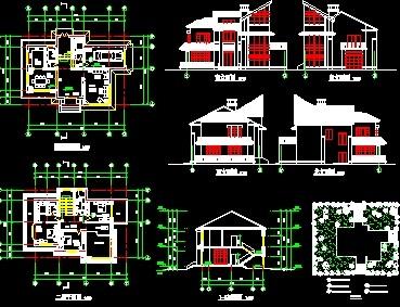 某别墅建筑设计图免费下载
