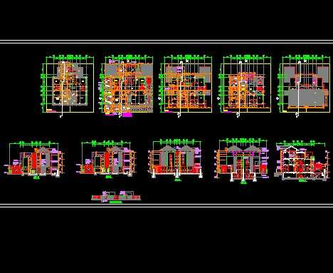 双拼豪华别墅施工图免费下载 - 别墅图纸 - 土木工程网