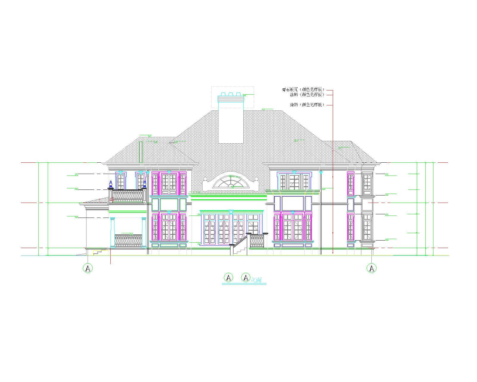 某别墅施工图免费下载 - 别墅图纸 - 土木工程网