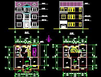 三层别墅施工图纸