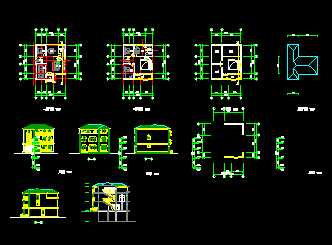 欧式别墅建筑施工图免费下载