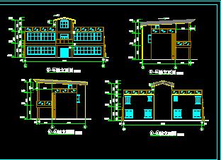 农村自建房建筑设计图免费下载 别墅图纸