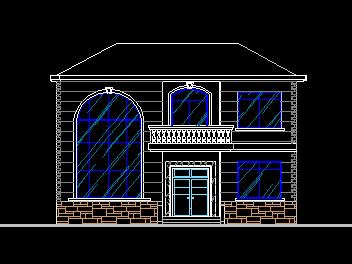 平方米二层别墅设计图免费下载