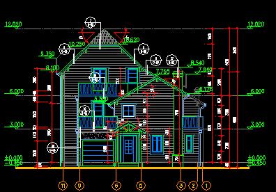 185平方米二层半独栋别墅设计图(含建筑结构)