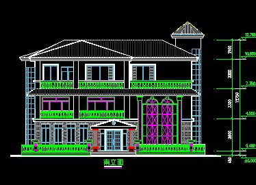 280平方米3层独栋别墅设计图