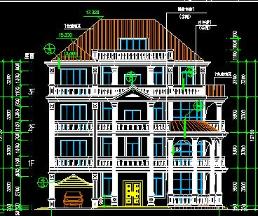 256平米4层独栋别墅设计图免费下载东凤镇出售别墅_图片