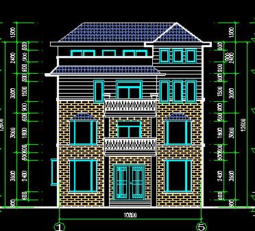 130平方米三层独栋别墅设计图