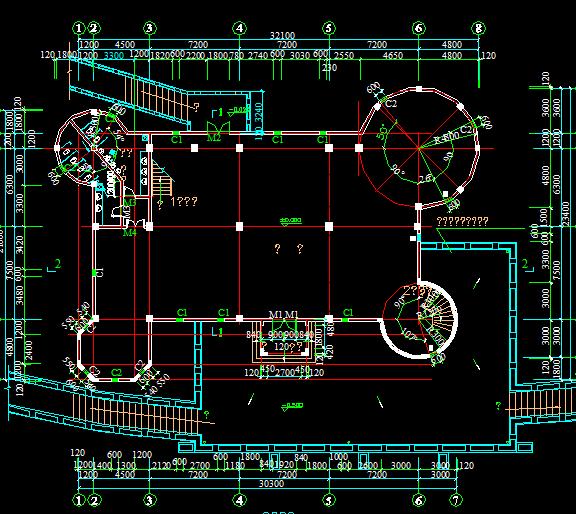 古堡平面图免费下载 别墅图纸
