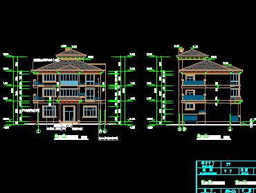 三层半欧式风格别墅设计图纸免费下载