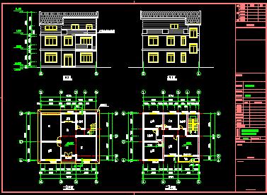 120平米三层新农村单家独院式别墅设计图
