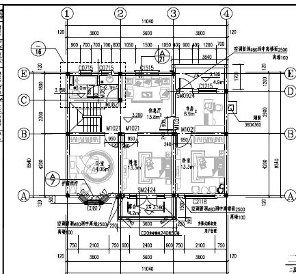 89.96平米二層別墅設計圖紙(含效果圖)