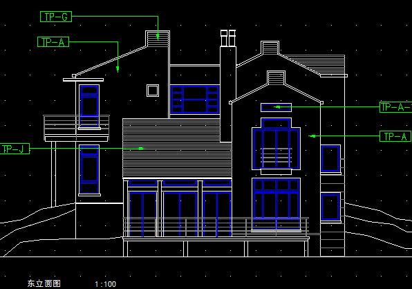 某2层山地别墅建筑施工图