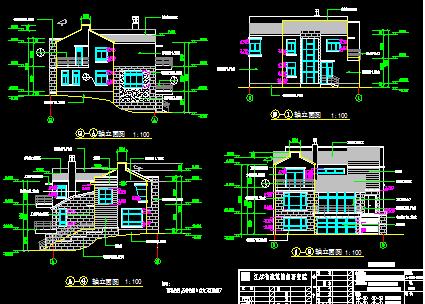 3层坡屋顶别墅建筑施工图
