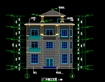 126平方米3层独栋别墅设计图