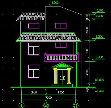 三层农村别墅施工图