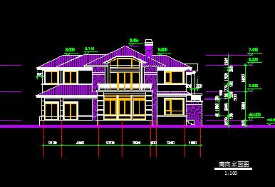 322平米两层别墅建筑施工图