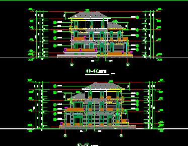 三层农村别墅建筑施工图