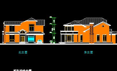 二层农村别墅设计图免费下载