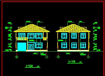 二层独栋别墅建筑设计图免费下载 - 别墅图纸 - 土木