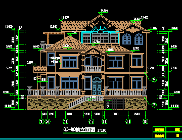 某三层欧式别墅施工图纸免费下载 别墅图纸