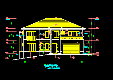 二层别墅设计图纸免费下载 别墅图纸
