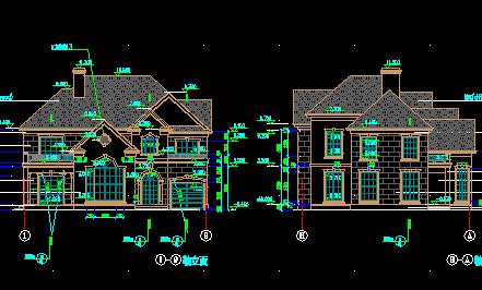 二层独栋别墅建筑设计图免费下载