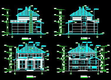 三层农村别墅设计图纸