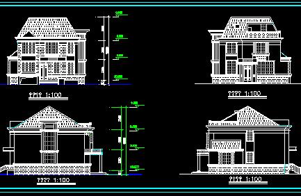 二层别墅建筑设计图免费下载 - 别墅图纸 - 土木工程网