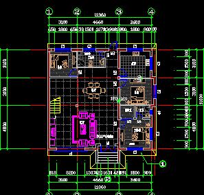 二层别墅施工图纸 含建筑结构水电 效果图