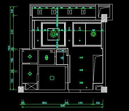二层欧式别墅建筑装修图纸(含效果图)