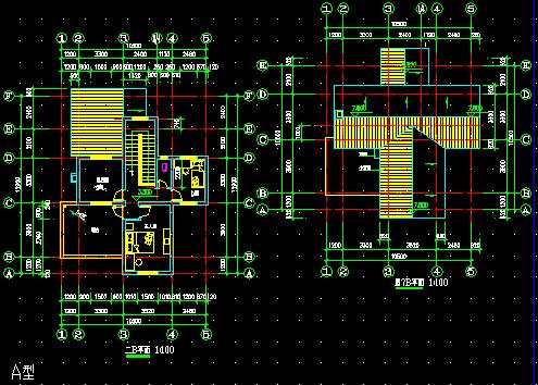 2层农村别墅建筑施工图免费下载 - 别墅图纸 - 土木