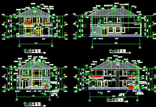 2层欧式别墅建筑施工图(含结构)