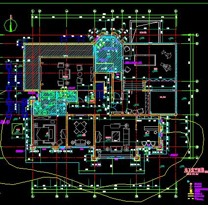 两层欧式豪华别墅建筑设计图纸
