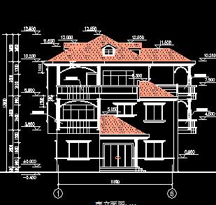三层别墅建筑结构设计图纸